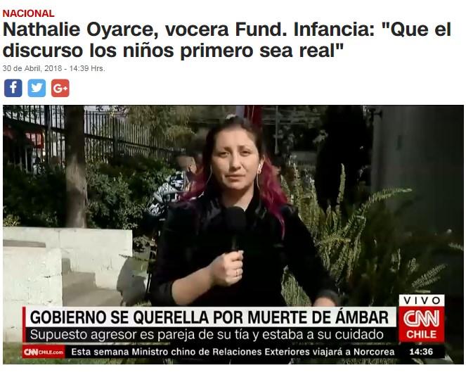 """CNN - Nathalie Oyarce, vocera Fund. Infancia: """"Que el discurso los niños primero sea real"""""""